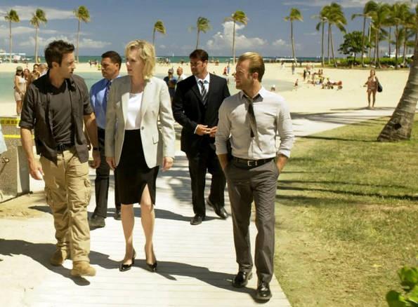 Una parte del cast di Hawaii Five-0 nell'episodio Ohana