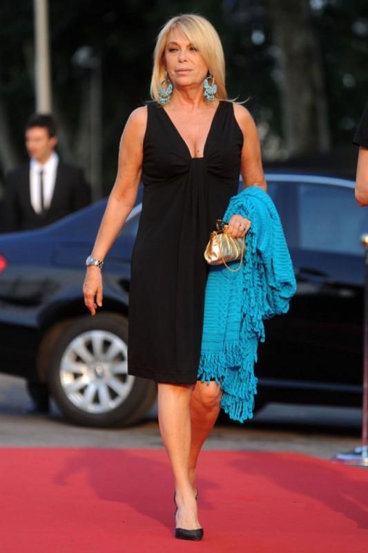 La conduttrice Rita Dalla Chiesa ad un evento Mediaset a Milano nell'estate 2010
