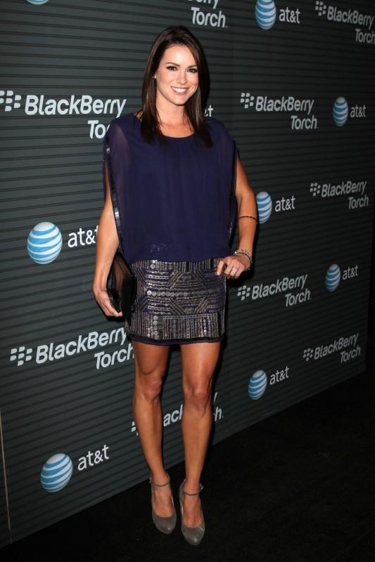 Danneel Harris in blu per un evento Blackberry Torch