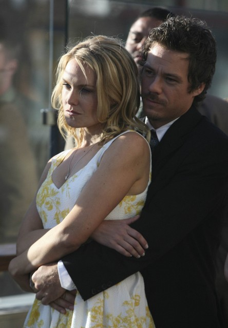 Laura Allen e Michael Raymond-James in Terriersnell'episodio Ring-A-Ding-Ding