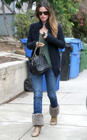 Rachel Bilson esce da un casting meeting in una residenza privata a West Hollywood