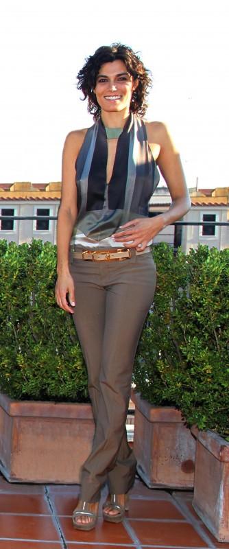 Valeria Solarino, con un abito di Gucci per la presentazione di Manuale d'Amore 3