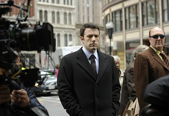 Ben Affleck sul set del film The Company Men