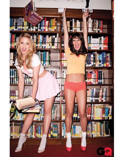 Dianna Agron e Lea Michele nel servizio fotografico sexy di GQ USA di novembre 2010