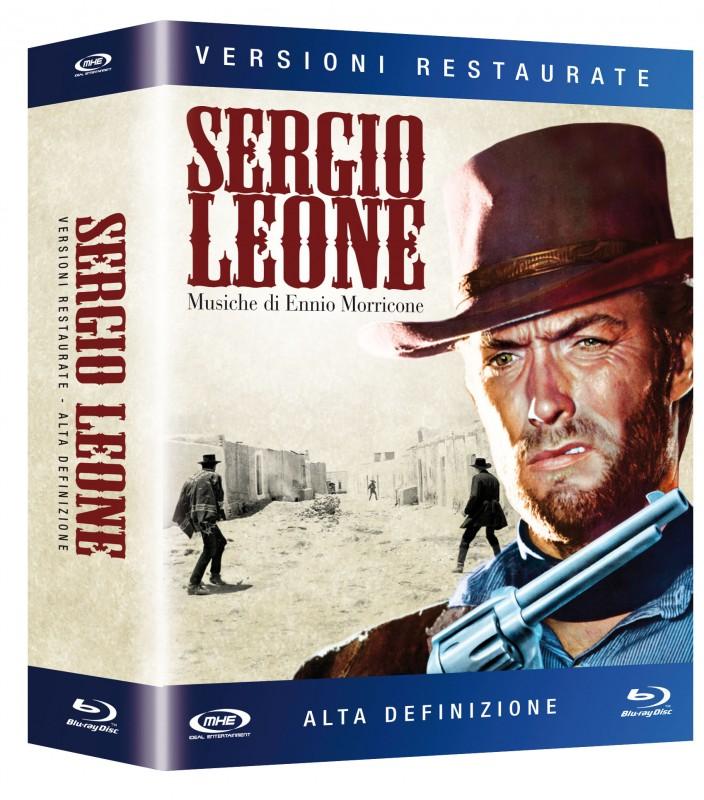 La copertina di Cofanetto Blu-ray Sergio Leone (blu-ray)