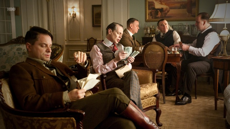 Steve Buscemi in una scena dell'episodio Nights in Ballygran di Boardwalk Empire