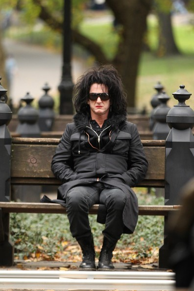 Sean Penn sul set di This Must Be the Place, di Paolo Sorrentino.
