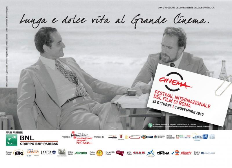 Tognazzi e Gassman in una delle belle immagini promozionali per il Festival di Roma 2010