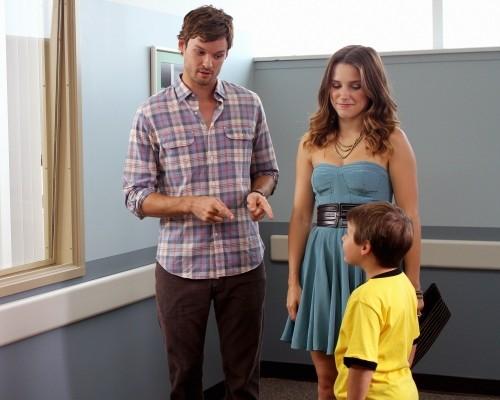 Austin Nichols, Sophia Bush e Jackson Brundage nell'episodio The Space in Between di One Tree Hill