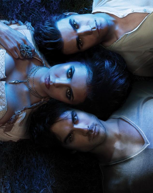 Un'immagine promo utilizzata per un poster della season 2 di Vampire Diaries