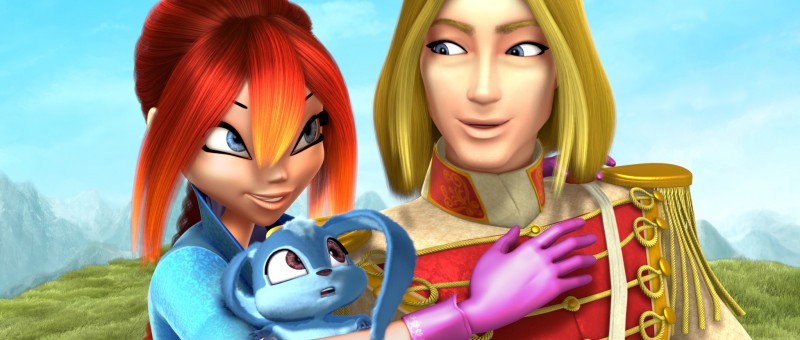Bloom insieme all'amato principe nel film Winx Club 3D