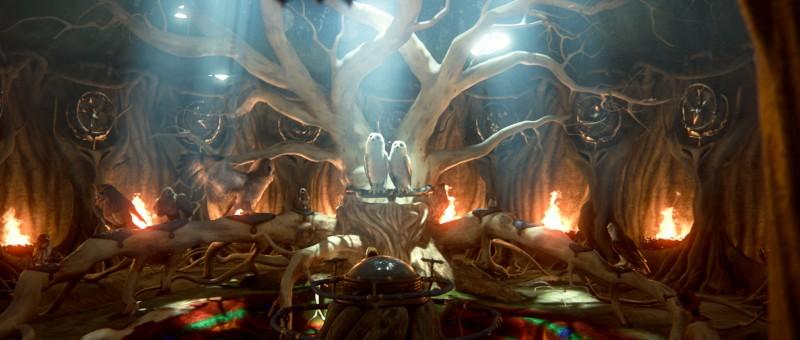 Boron e Barran al centro di una scena del fantasy Il regno di Ga'Hoole: la leggenda dei guardiani