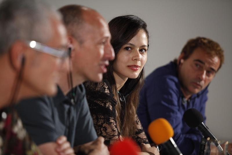Il cast del film La mosquitera alla conferenza stampa del Karlovy Vary International Film Festival