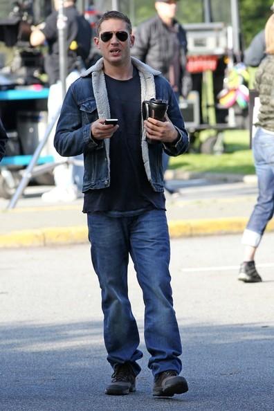 Tom Hardy in strada