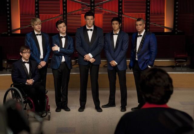 Glee: una scena dell'episodio Never Been Kissed