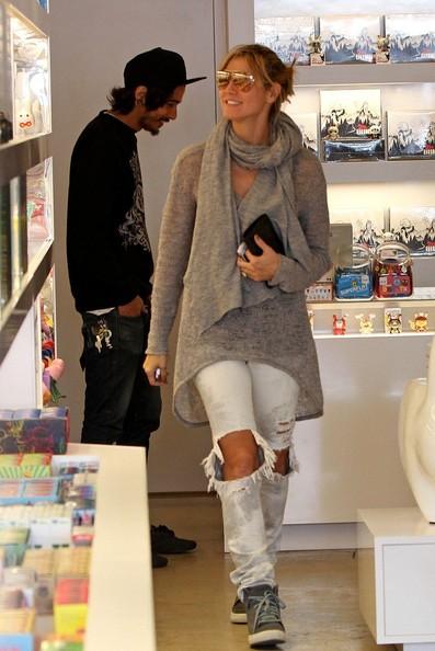 Heidi Klum in un paio di negozi di Melrose Avenue
