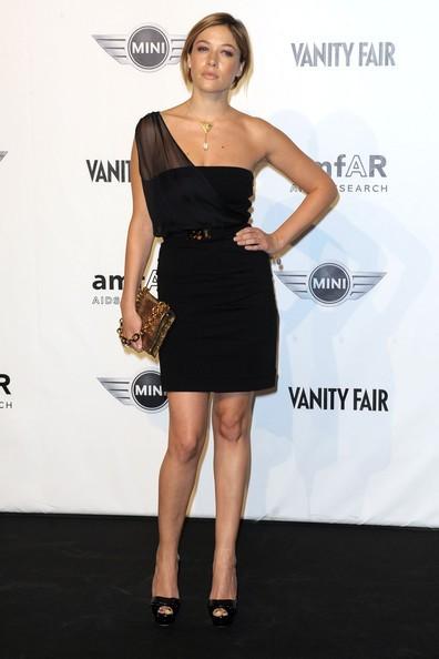 La bella Sarah Felberbaum durante la fashion week milanese 2010