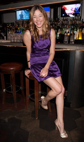 Una sorridente Sarah Felberbaum a Roma nel 2009