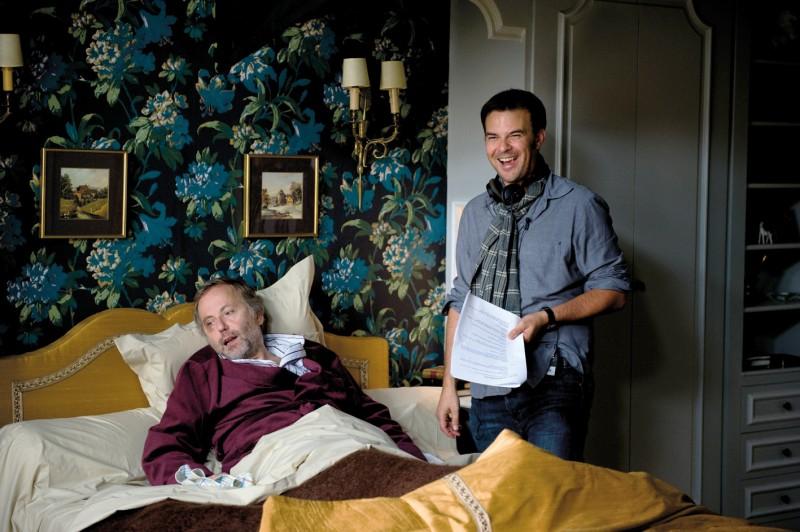 Fabrice Luchini sul set del film Potiche