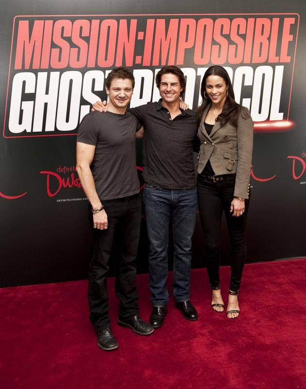 Tom Cruise e Jeremy Renner con Paula Patton presentano il quarto capitolo di Mission: Impossible - Ghost Protocol a Dubai