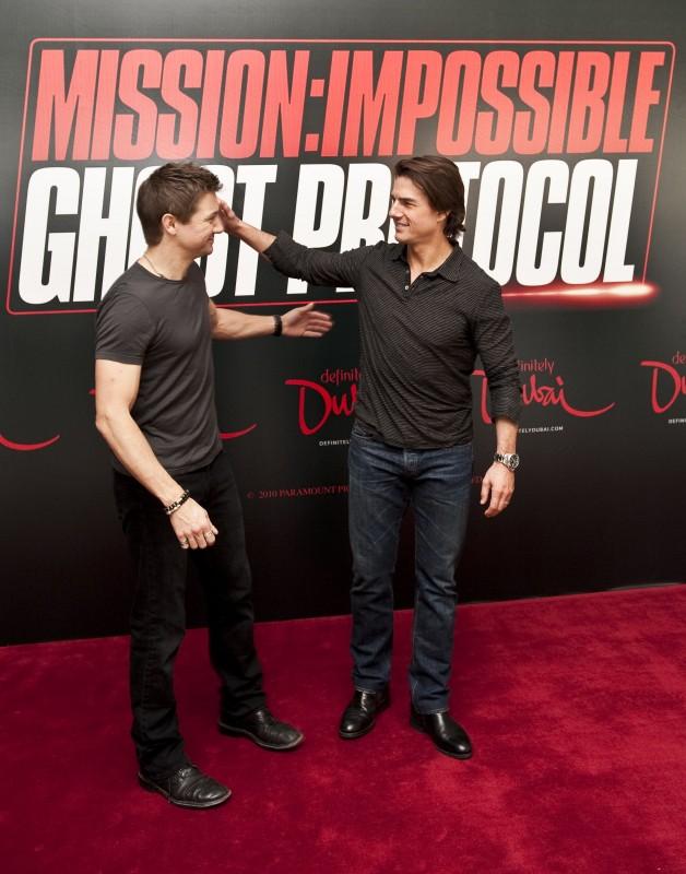 Tom Cruise e Jeremy Renner presentano il quarto capitolo di Mission: Impossible - Ghost Protocol a Dubai