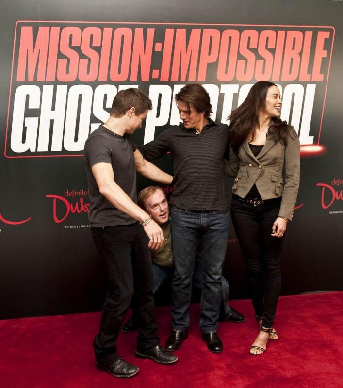 Tom Cruise, Jeremy Renner, Paula Patton e un 'piccolo' Brad Bird presentano il quarto capitolo di Mission: Impossible - Ghost Protocol a Dubai