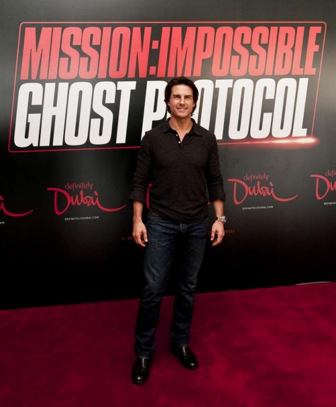 Tom Cruise presenta il quarto capitolo di Mission: Impossible - Ghost Protocol a Dubai