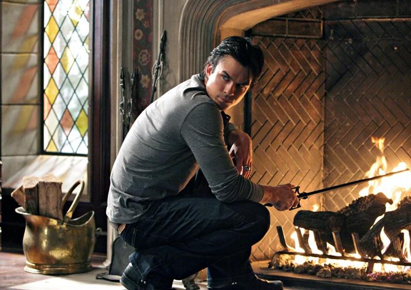 Damon (Ian Somerhalder) in una scena dell'episodio Plan B di Vampire Diaries