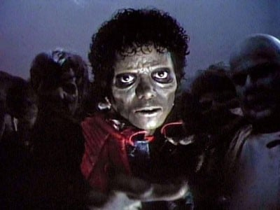 Michael Jackson nel video di Thriller