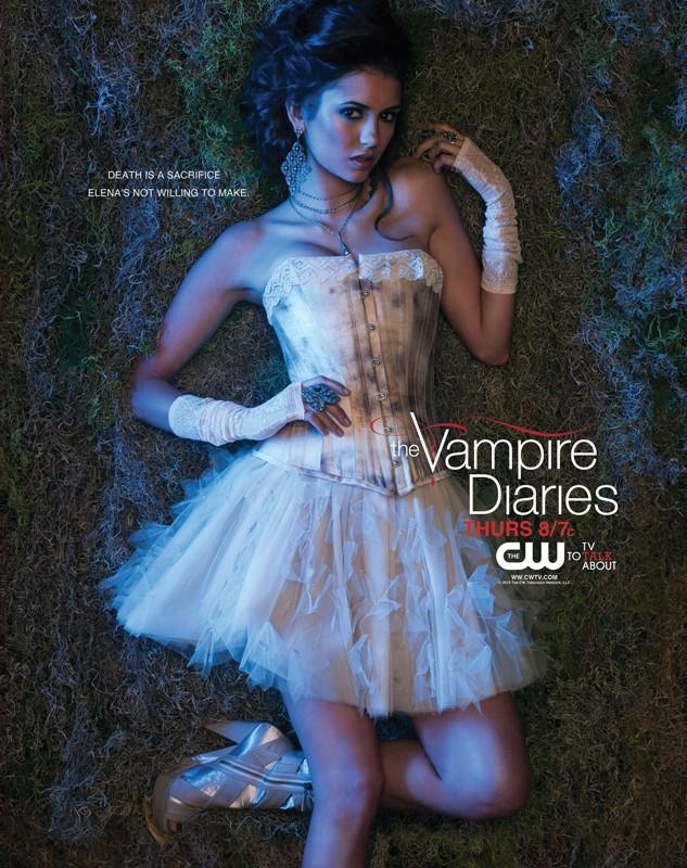 Un character poster con la bellissima Nina Dobrev per la stagione 2 di Vampire Diaries