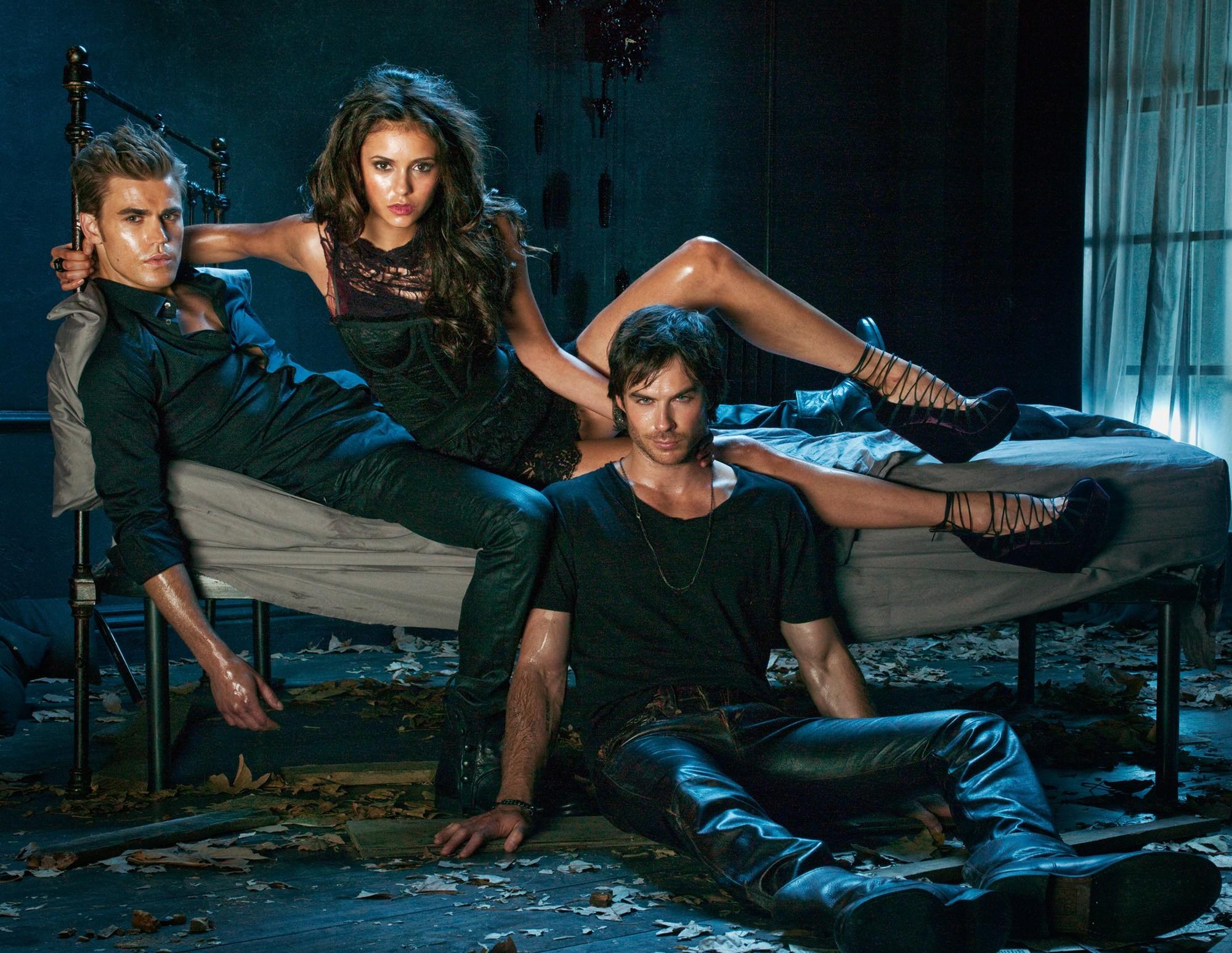 Wallpaper: con i tre protagonisti della 2 season di Vampire Diaries