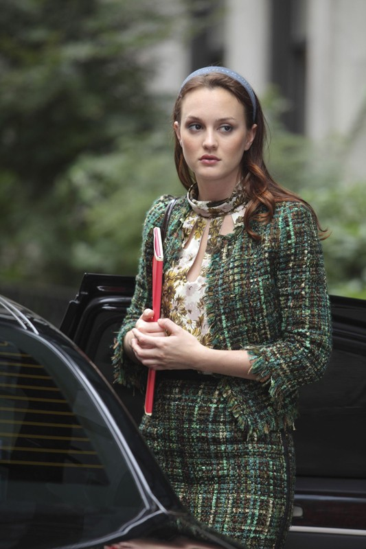 Blair (Leighton Meester) in una scena dell'episodio War at the Roses di Gossip Girl