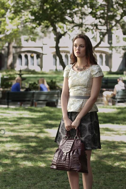 Blair (Leighton Meester) in una sequenza dell'episodio Easy J di Gossip Girl