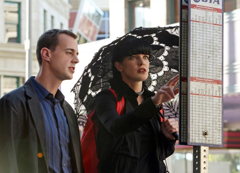 Sean Murray e Pauley Perrette in una scena dell'episodio Cracked di N.C.I.S.