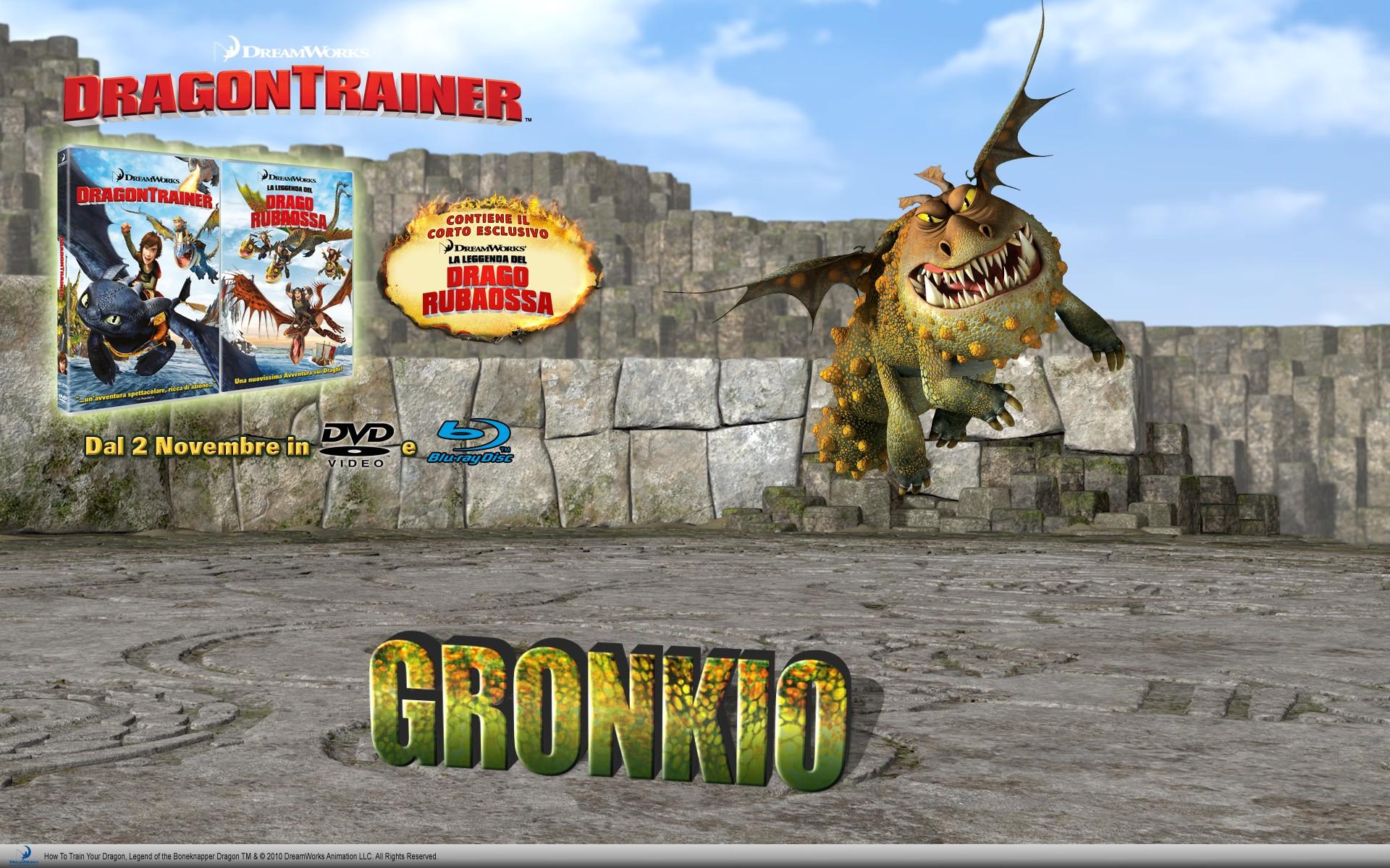 Un wallpaper dedicato all'uscita homevideo di Dragon Trainer, prevista il 2 Novembre 2010