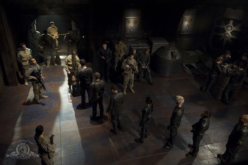 Una ripresa dall'alto per l'episodio Aftermath di Stargate Universe