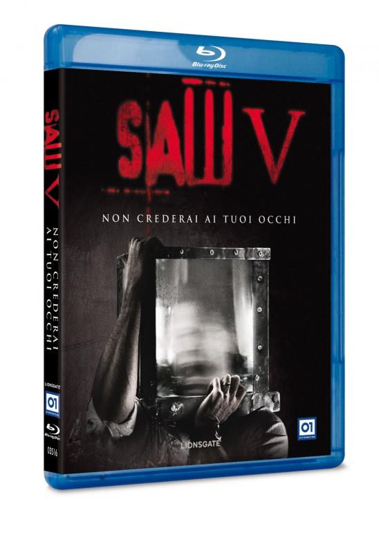 La copertina di Saw V (blu-ray)