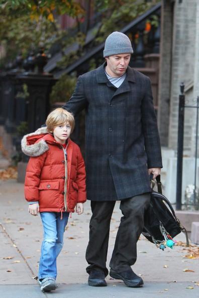 Matthew Broderick e il figlio James sfidano il freddo di New York