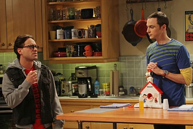 Johnny Galecki e Jim Parsons nell'episodio The Irish Pub Formulation di The Big Bang Theory