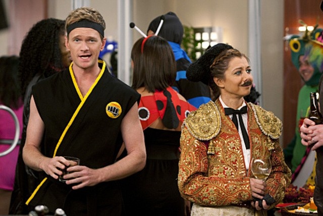 Neil Patrick Harris ed Alyson Hannigan nell'episodio Canning Randy di How I Met Your Mother