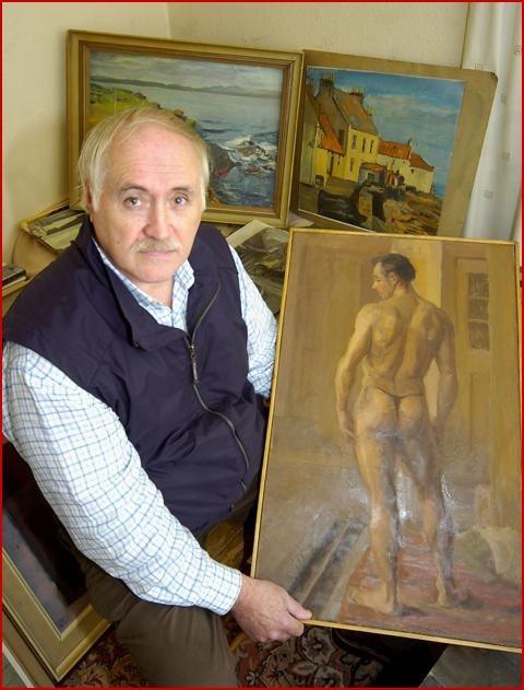Un dipinto nel quale è raffigurato un modello nudo che potrebbe essere Sean Connery prima che iniziasse a fare l'attore.