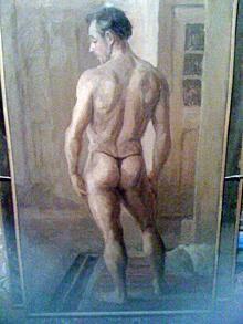 Un quadro nel quale è raffigurato un modello nudo che potrebbe essere Sean Connery prima che iniziasse a fare l'attore.