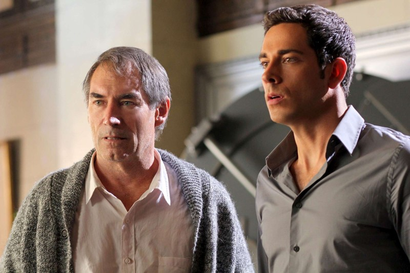 Gregory Tuttle (Timothy Dalton) e Chuck (Zachary Levi) nell'episodio Chuck Versus the First Fight