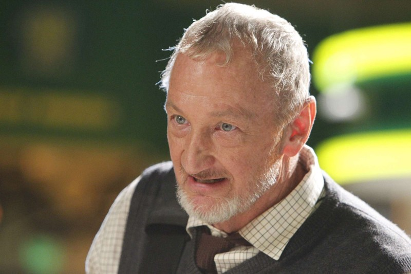 Un primo piano del Dr. Stanley Wheelwright (Robert Englund) nell'episodio Chuck Vs. The Aisle of Terror