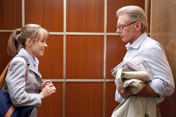 Harrison Ford e Rachel McAdams in una sequenza del film Morning Glory