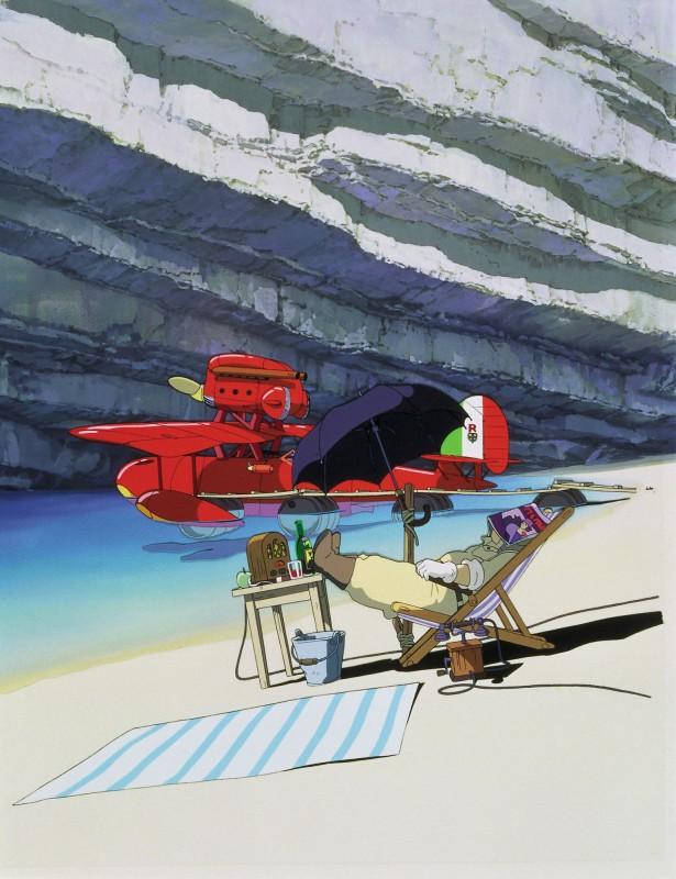 L'immagine di un piccolo angolo di paradiso dal film Porco Rosso