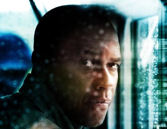 Primo piano di Denzel Washington dal film Unstoppable