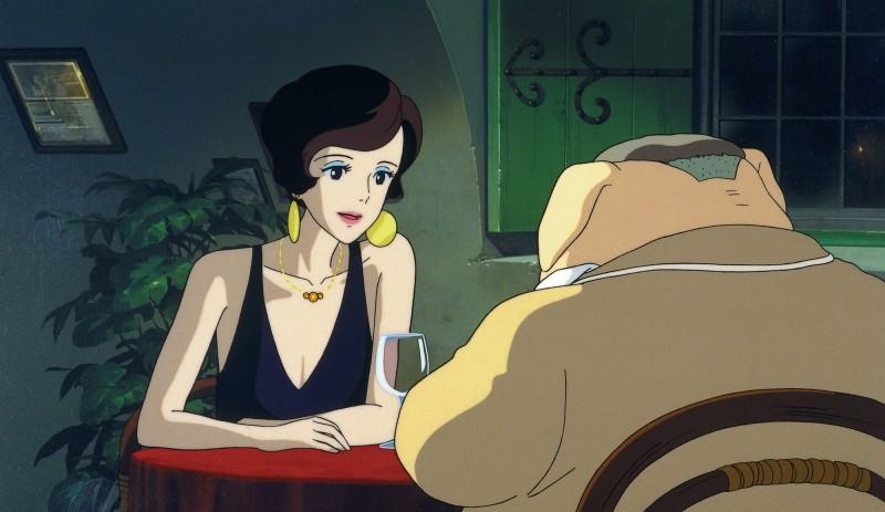 Un'immagine dell'elegante Jina dal film Porco Rosso
