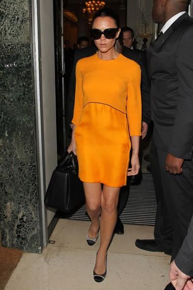 Victoria Beckham ha pranzato presso l'esclusivo albergo Claridges
