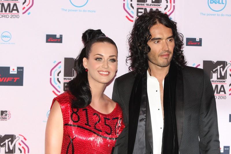Katy Perry e Russell Brand agli MTV European Music Awards 2010 a Madrid